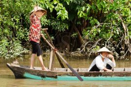 Ambiance du Delta du Mékong, Vietnam