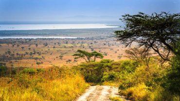 Lac Edward dans le Parc Queen Elizabeth, Ouganda