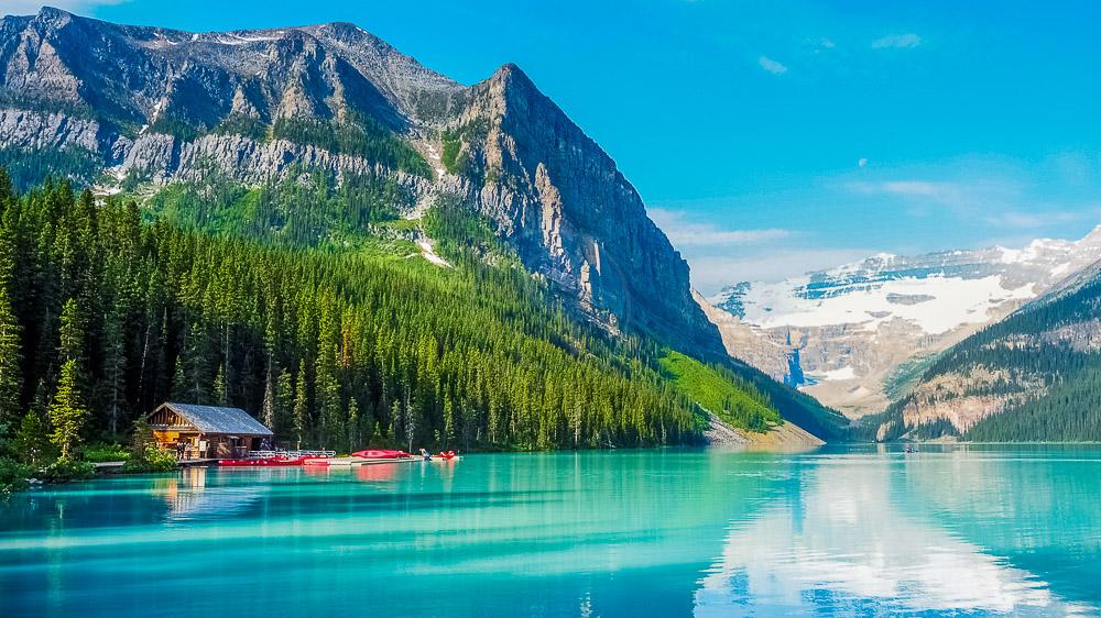 Lac Louise dans l'Alberta, Canada