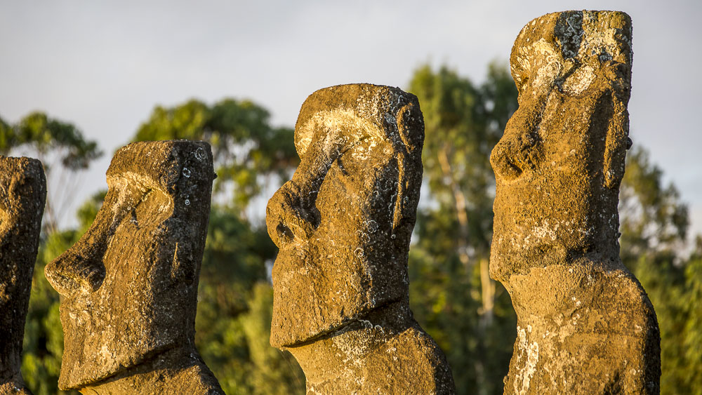 Moai Ahu Akivi, Île de Pâques, Chili