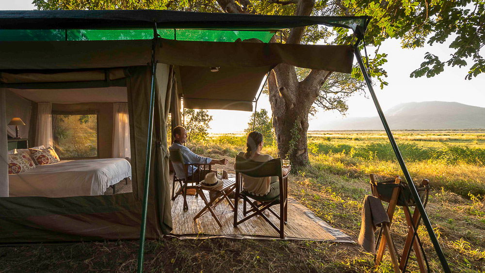John's Camp Mana Pools, Zimbabwe © Dana Allen, Robin Pope