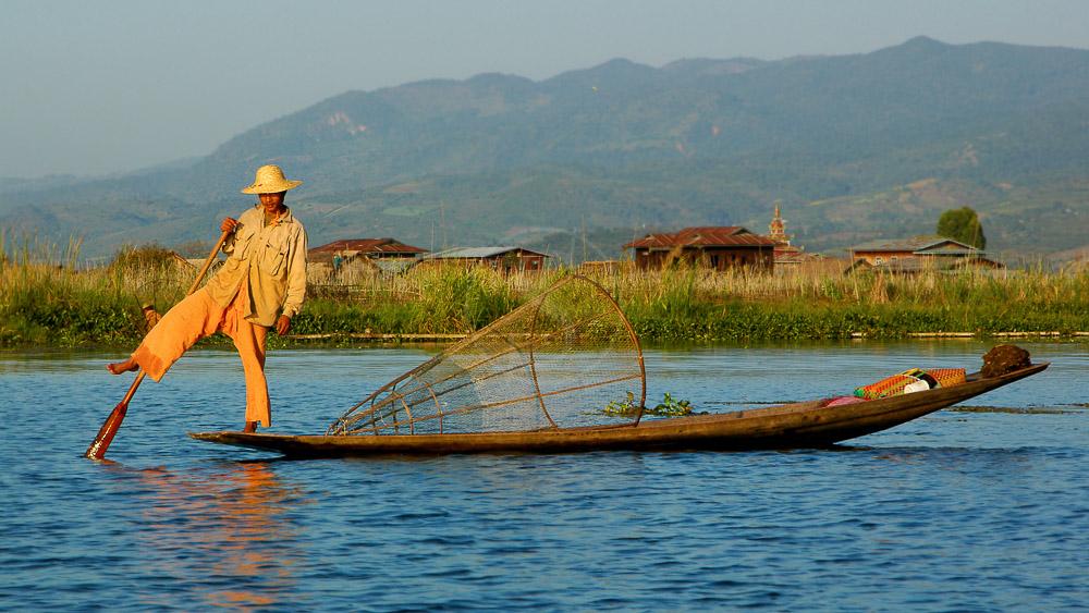 Ambiance sur le lac Inlé, Birmanie