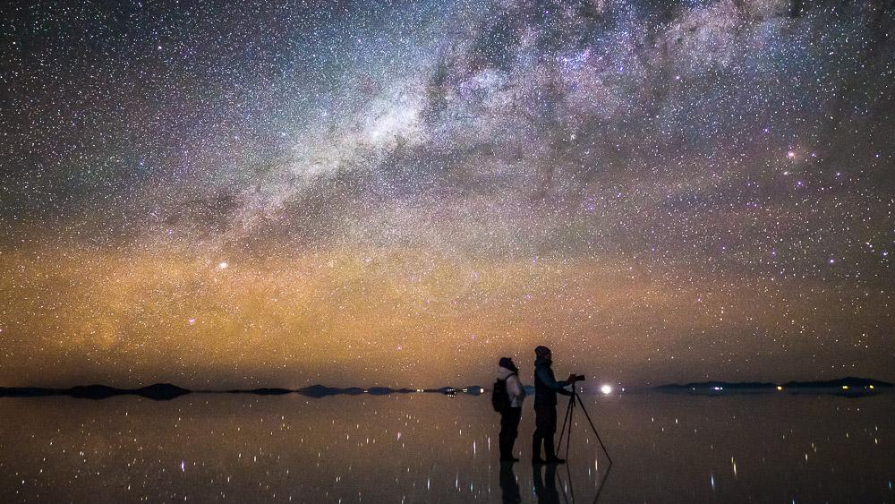 Nuit étoilée sur le Salar d'Uyuni, Bolivie