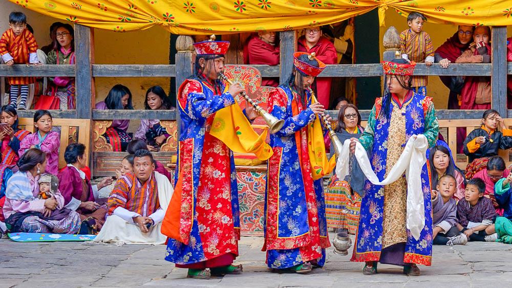 Festival dans la région de Paro, Bhoutan