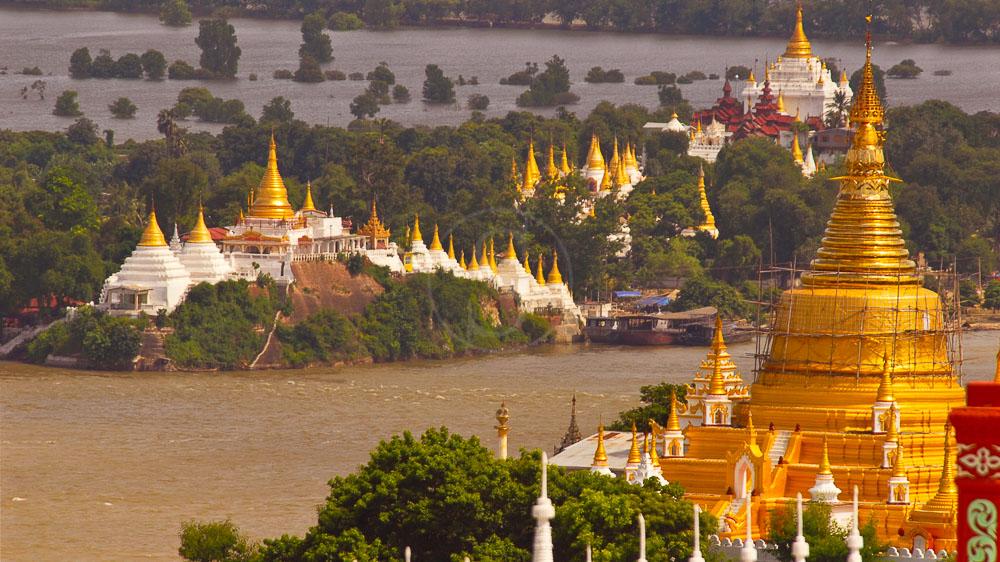 Très belle vue depuis Sagaing, Mandalay, Myanmar
