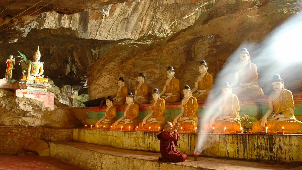 Grotte naturelle de Sadan Gu, Myanmar