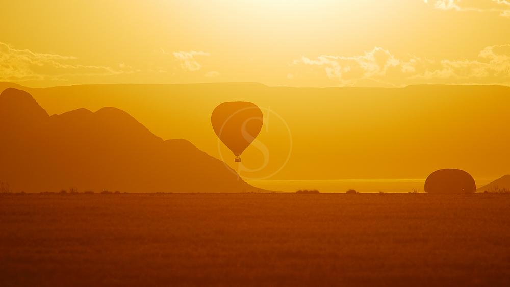 Survol en ballon, Namibie