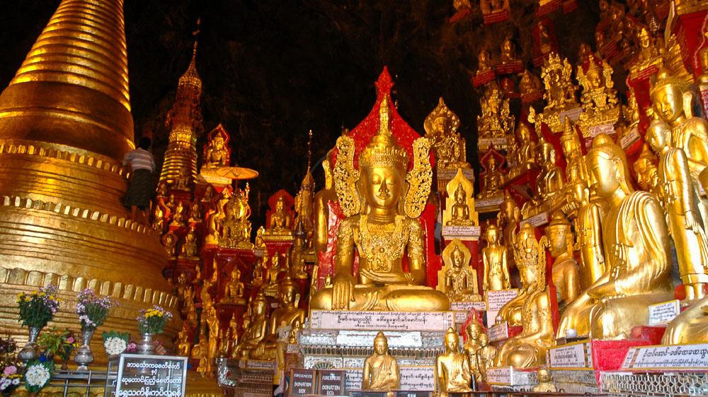 Plus de 2000 pagodes à Pindayan Myanmar