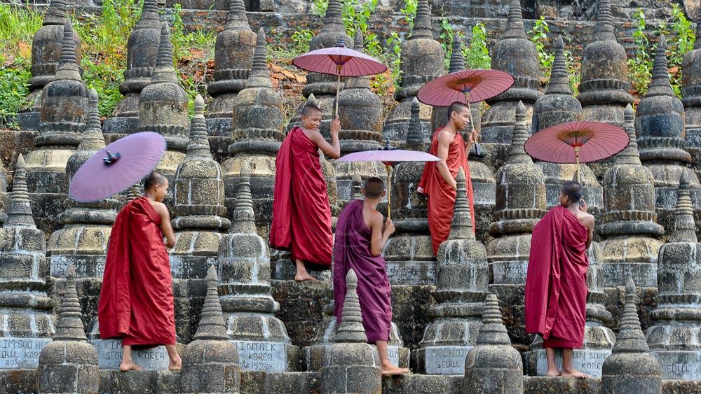 Terrace au Temple de Ko Thaung, Myanmar