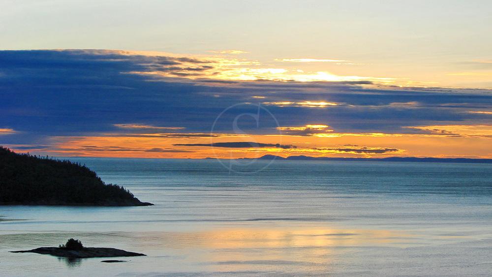Fjord Saguenay au Québec, Canada