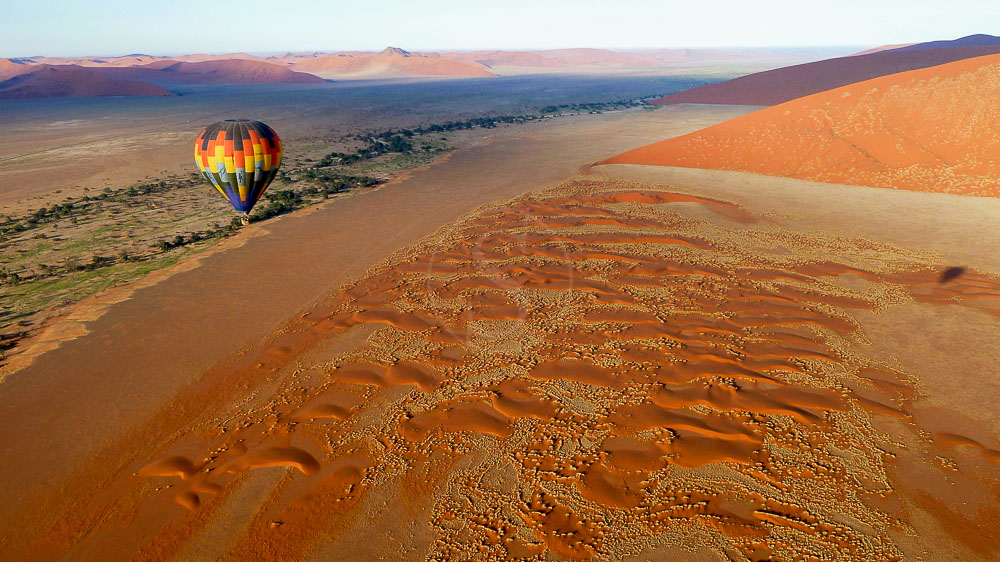 Safari en ballon vers Sossusvlei, Namibie © Namib Sky
