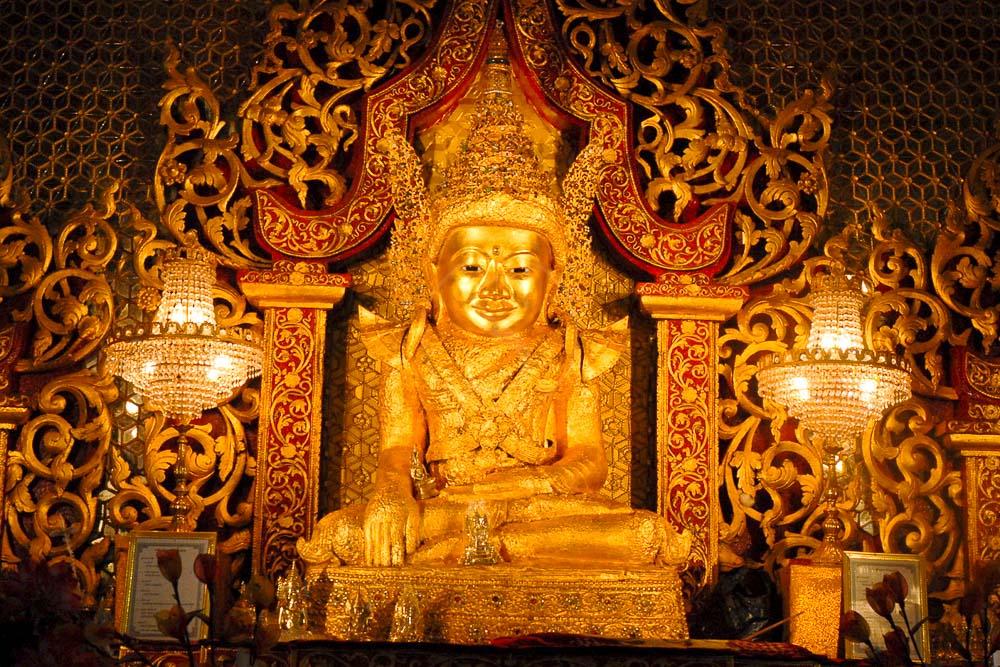 Temple de Mahamuni à 40 km de Mrauk U, Myanmar