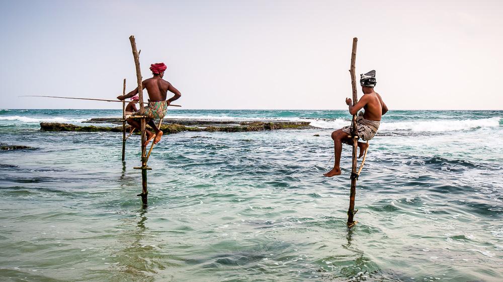 Pêcheurs à Ahangama, Sri Lanka © Shutterstock