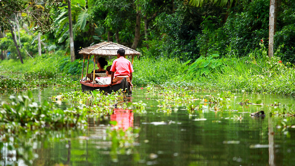 Backwaters près de Cochin, Inde