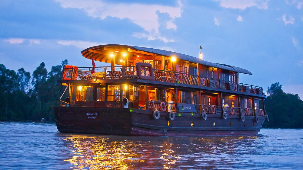 Bassac sur le Delta du Mékong, Vietnam