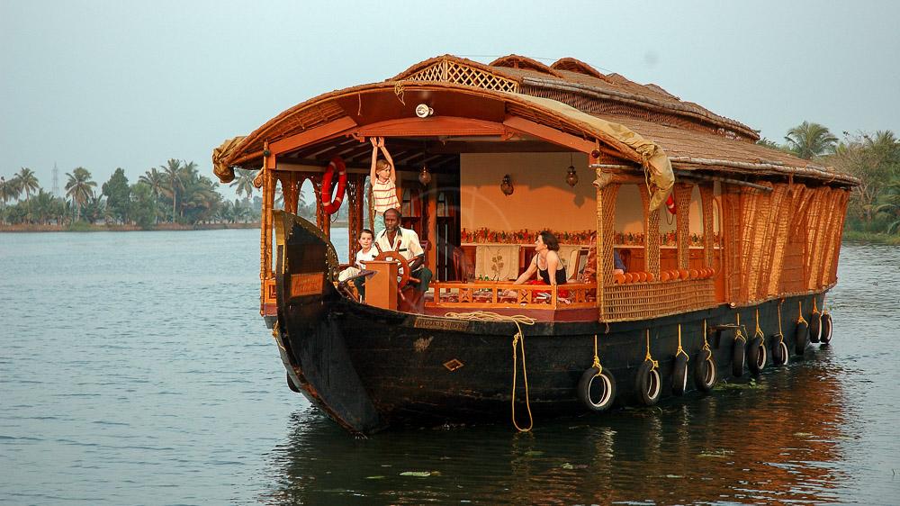 Houseboat Alleppey, Inde © Gilles Georget