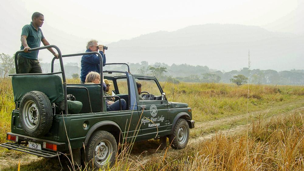Safari en jeep à Kaziranga, Inde © Gilles Georget