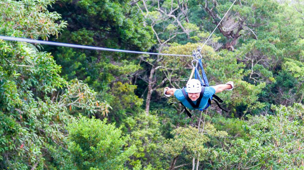 Accrobranche à Monteverde, Costa Rica