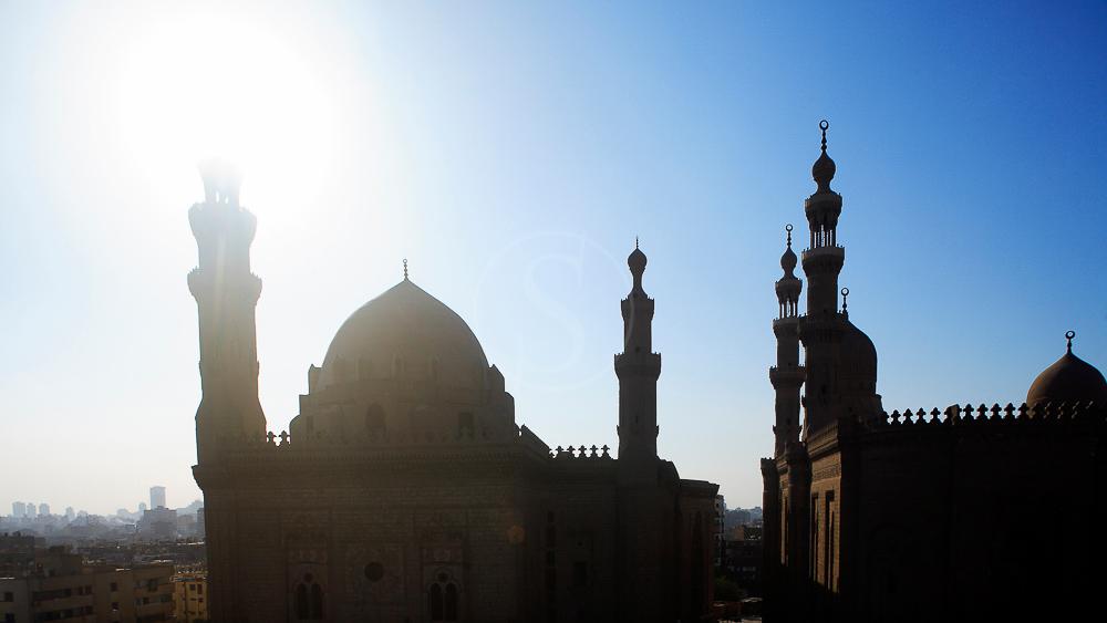 Egypte, le Caire, la mosquee du Sultan Hassan