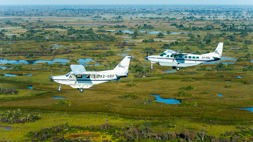 Survol de l'Okavango, Botswana © Wilderness Safaris