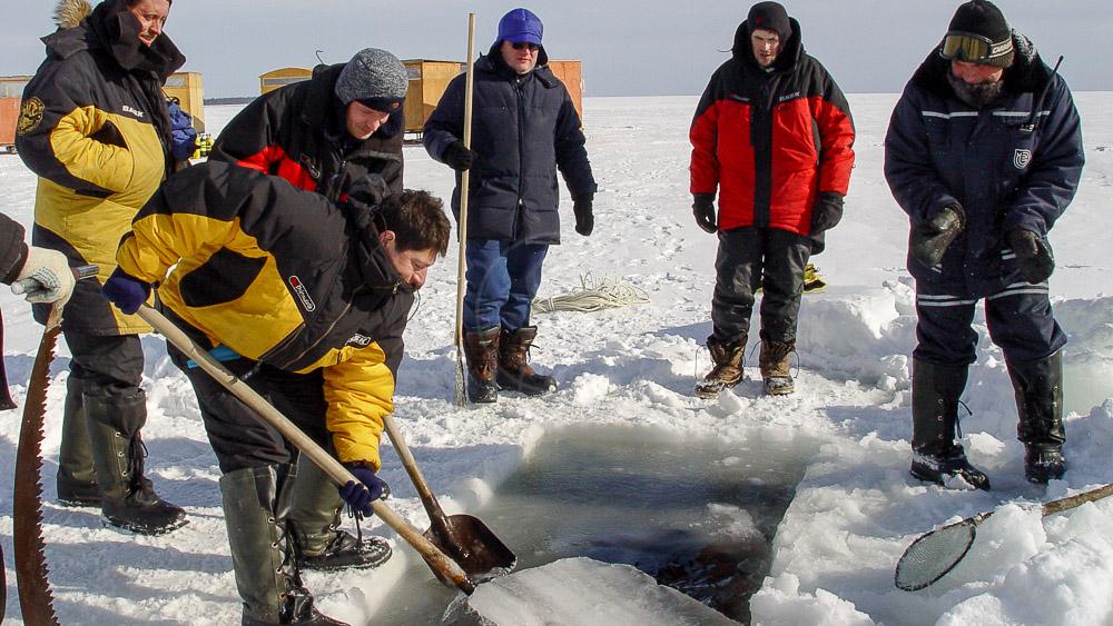 Plongée en Mer Blanche, Russie