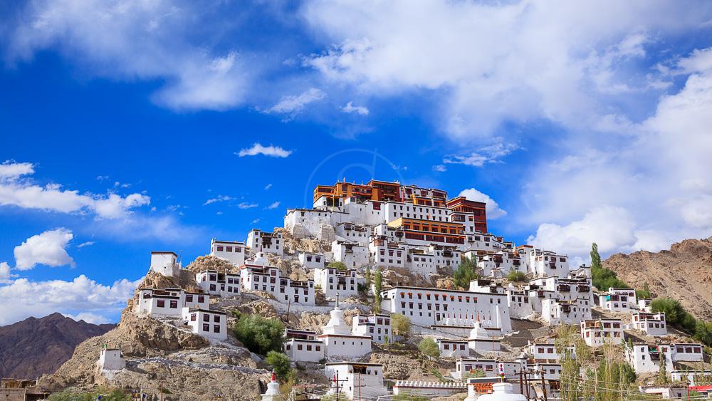 Thiksey Gompa au Ladakh, Inde