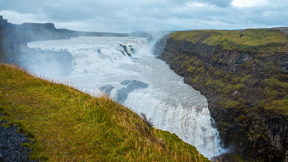Gullfoss waterfall, Islande © Sstock