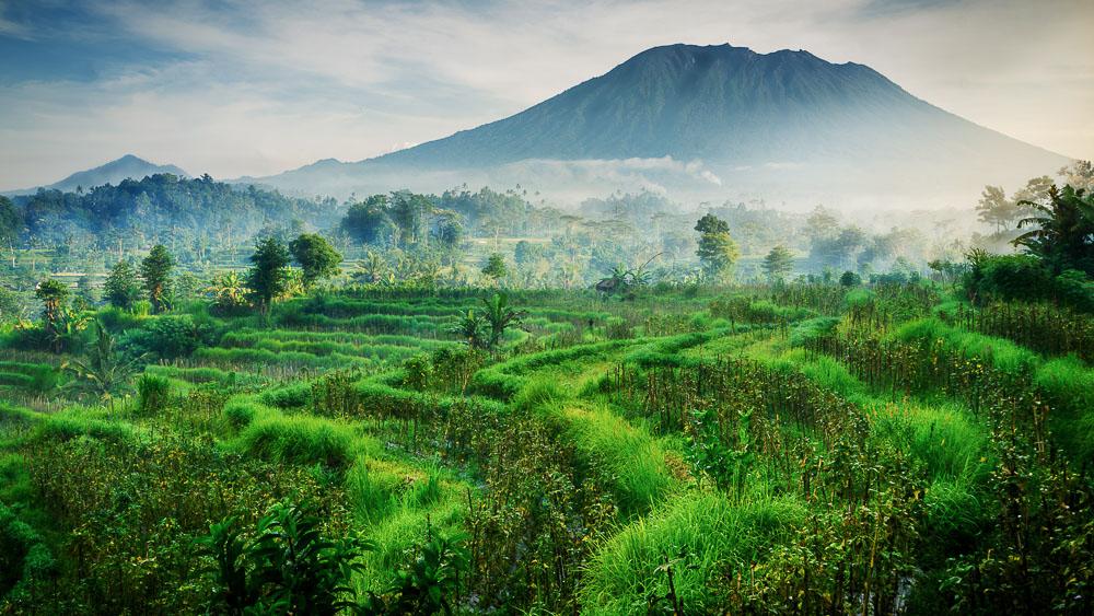 Vue sur le Mont Agung, Bali, Indonésie