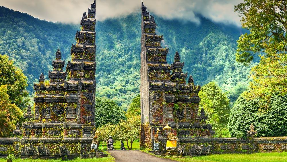Candi Bentar, Bali, Indonésie