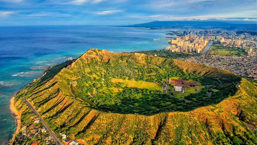 Volcan Diamond Head, Hawai © Shutterstock