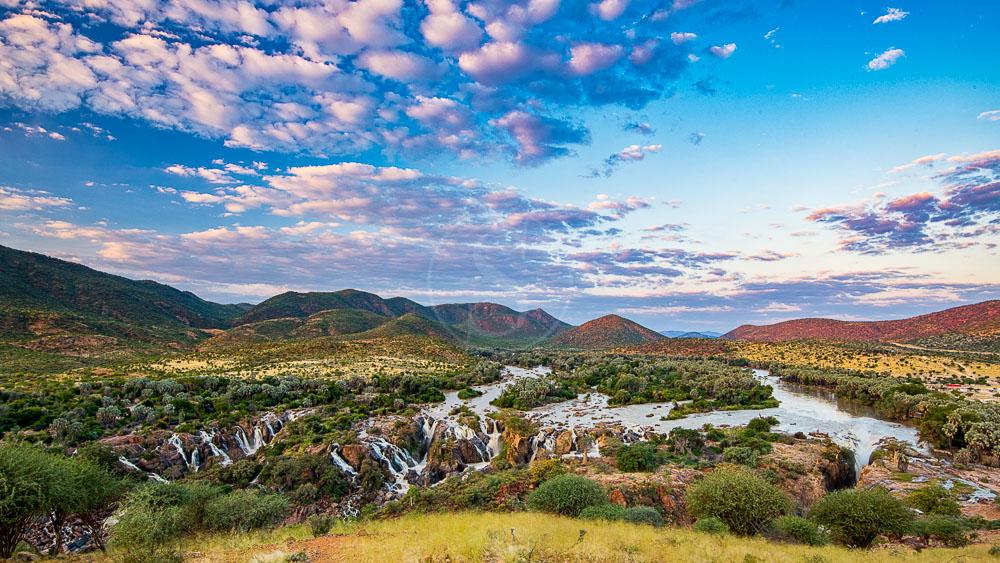 Epupa Falls sur la Kunene River, Namibie © Shutterstock