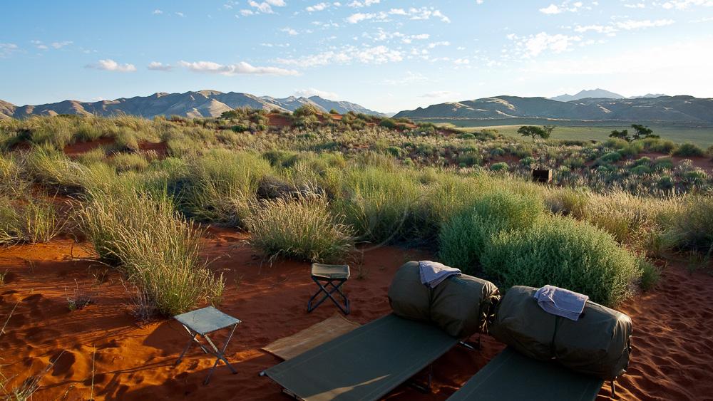 Bivouac dans la Namib Rand Nature Reserve, Namibie