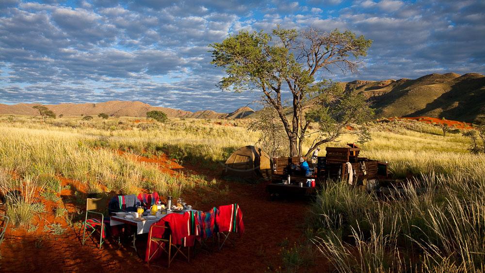 Cantine dans la Namib Rand Nature Reserve, Namibie