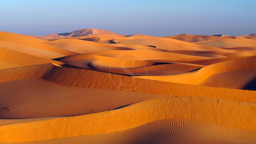Désert dans le Sultanat d'Oman