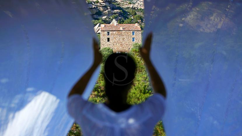 Espace detente, Plage de la crique, Domaine de Murtoli, Corse du Sud (2A), France