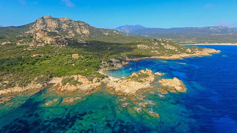 France, Corse du Sud (2A), Domaine de Murtoli (vue aerienne)
